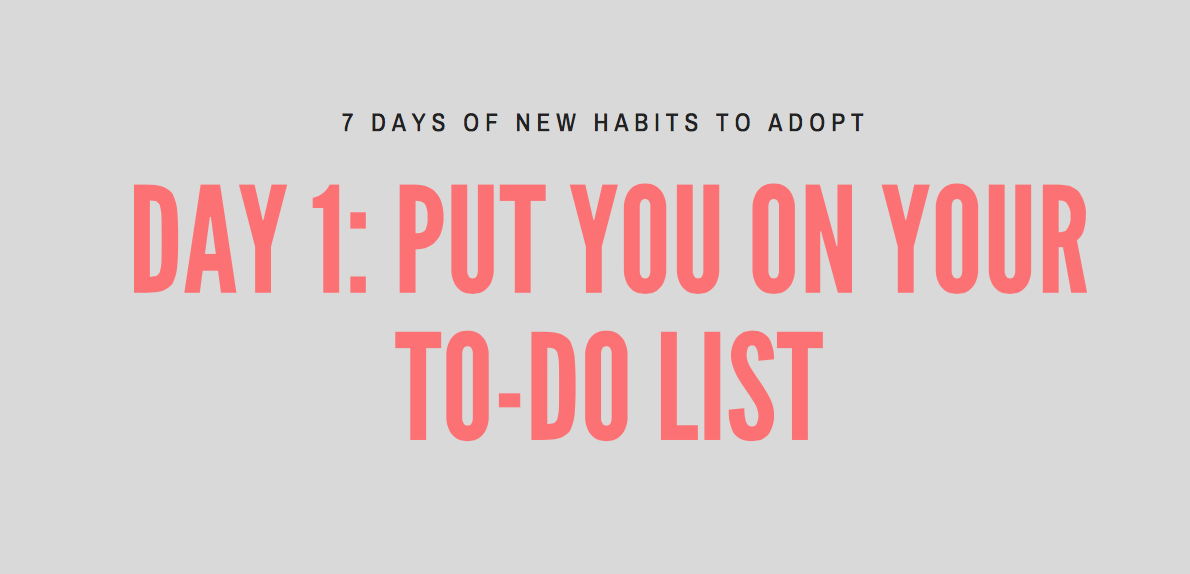 Day 1: New Habits to Adopt